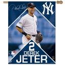 "-MLB Yankees # 2 Derek Jeter Vertical flag 27 x 37 ""Wincraft"