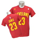 NBA Cavaliers Revlon James GAME TIME T-shirt (garnet) Adidas