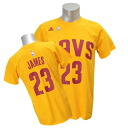 NBA Cavaliers Revlon James GAME TIME T-shirt (gold) Adidas