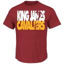 NBA Cavaliers Revlon James Player Voltage T-shirt (Marron) Majestic