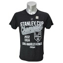 NHL Los Angeles Kings 2x Script Champs T-shirt (black) CCM