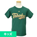 Tohoku Rakuten Golden Eagle Tohoku green kids T-shirt Majestic
