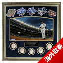 5 MLB Yankees #2 Derek Jeter Framed 24x24 World Series Titles Collage w/ World Series Baseballs & Patches Steiner Sports