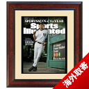 MLB Yankees # 2 Derek Jeter Sportsman of the Year ' Sports Illustrated Cover Framed 16 x 20 Photo Steiner Sports