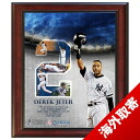 MLB Yankees #2 Derek Jeter Framed 11x14 #2 Career Highlight with Tipping Helmet Collage Steiner Sports