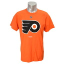 NHL Philadelphia fryers Primary Logo S/S T-shirt (orange) Reebok