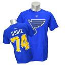 NHL blues #74 T.J., Osh Name&Number T-shirt (blue) Reebok