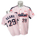 (home) ZETT with Tokyo Yakult Swallows #29 Yasuhiro Ogawa replica uniform embroidery emblem