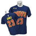 Adidas NBA Cavaliers # 23 LeBron James GAME TIME t-shirt (Navy)