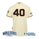 Majestic MLB Giants # 40 Madison Bumgarner 2014 World Series Authentic Cool Base Jersey (home)