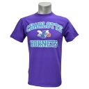 Charlotte Hornets NBA Hardwood Classics Heart & Soul T shirt (purple) Majestic