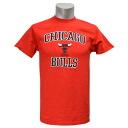 NBA Chicago Bulls Hardwood Classics Heart & Soul T shirt (red)-Majestic