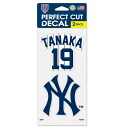 MLB Yankees # 19 Tanaka Masahiro Perfect Cut decals Set Of Two 4 X 4 Wincraft