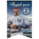-MLB Yankees # 2 Derek Jeter Premium Felt banner 17 X 26 Wincraft