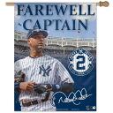 -MLB Yankees # 2 Derek Jeter Vertical flag 27 X 37 Wincraft