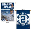 -MLB Yankees # 2 Derek Jeter Vertical flag 2-Sided 28 X 40 Wincraft