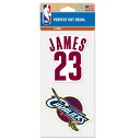 NBA Cavaliers # 23 LeBron James Perfect Cut Decal Set Of Two 4 X 4 Wincraft