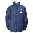 Majestic MLB Detroit Tigers Authentic Wind Jacket (Navy)