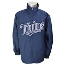 Majestic MLB Minnesota Twins Authentic Wind Jacket (Navy)
