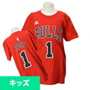 Adidas NBA bulls # 1 Derrick rose Youth GAME TIME t-shirt (red)