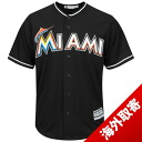Majestic MLB Miami Marlins 2015 Cool Base Replica Game Jersey (alternate 2)