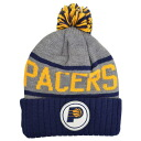 NBA Indiana Pacers High 5 Cuffed knit Cap (grey/Navy) Mitchell &Ness