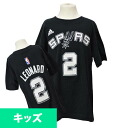 Adidas NBA Spurs # 2 Kawai Leonard Youth GAME TIME t-shirt (black)