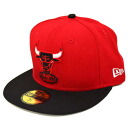 NBA Chicago Bulls 59 FIFTY Hardwood Classics Basic Logo 2Tone Cap (red/black) New Era