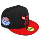NBA Chicago Bulls 59 FIFTY Hardwood Classics 1988 All-Star Game Capper Fitted Cap (black/red) New Era