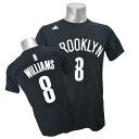 Adidas NBA nets # 8 Deron Williams NET NUMBER t-shirt (black)