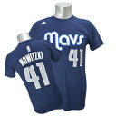 Adidas NBA Mavericks # 41 dark Nowitzki NET NUMBER t-shirt (Navy)