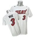 Adidas NBA heat # 3 Dwyane Wade NET NUMBER t-shirt (white)