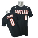 Adidas NBA Trail Blazers # 0 Damian Lillard NET NUMBER t-shirt (black)