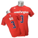 Adidas NBA wizards # 3 Bradley beer NET NUMBER t-shirt (red)