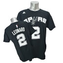 Adidas NBA Spurs # 2 Kawai Leonard NET NUMBER t-shirt (black)