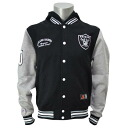 Majestic NFL Oakland Raiders freeseletterman hood jacket (black)