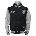 Majestic NFL Oakland Raiders freeseletterman hood jacket (black)