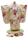 3 Years old baby girl congratulations ringtone-No.302( kimono: cream color / 被布: cream color / set / 753 被布 ) 60% off