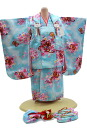 3 years old baby girl congratulations wearing-No.323( clothes: Blue / 被布: Blue / set / 753 被布 ) 60% off