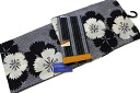 Aperture pattern chic yukata and old cotton Obi set-No.00745%OFF