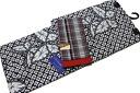 Aperture pattern chic yukata and old cotton Obi set-No.01245%OFF
