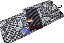 Aperture pattern chic yukata and old cotton Obi set-No.01445%OFF