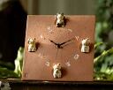 Fortune feng shui beckoning cat wall clock