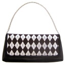 Second bag (handbag, yukata) diamond / tea X black X white 10P30Nov13