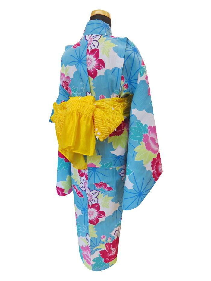 莲和铁丝[现代的花纹蓝色粉红天蓝色蓝色藏青色桃色yukata]10p03dec16
