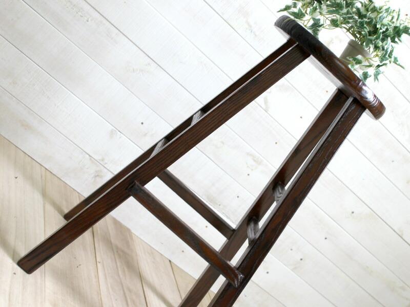 原木ウッドハイスツール