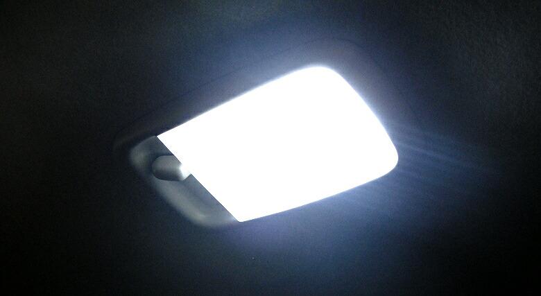 超激明 ミラ ココア L675S/685S専用 LED ルームランプ 超豪華セット!! 3chip SMD全使用 mira cocoa-取付けイメージ3