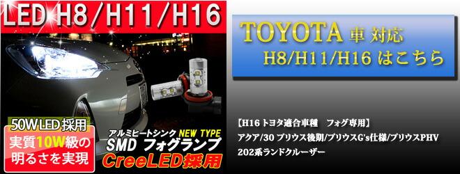 TOYOTA H8/H11/H16 50W LED��� 10W�����