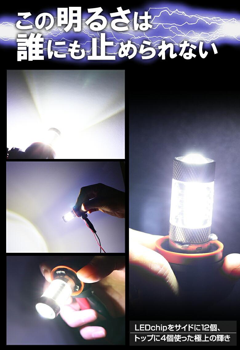 LED H8/H11/H16SMDフォグランプNEWTYPE_この明るさはとめられない