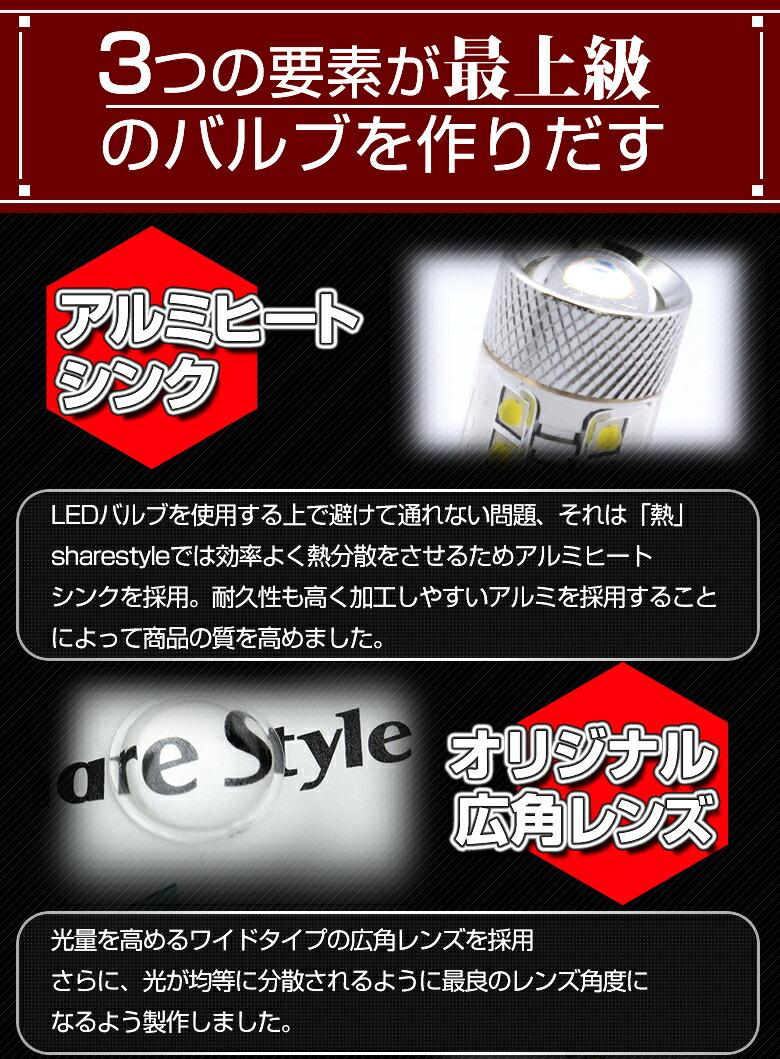 LED H8/H11/H16SMDフォグランプNEWTYPE_3つの要素